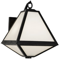 Glacier 2 Light 17 inch Black Charcoal Outdoor Wall Mount in White Opal