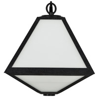 Crystorama GLA-9722-OP-BC Glacier 2 Light 17 inch Black Charcoal Outdoor Wall Mount in White Opal