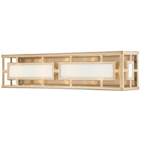 Crystorama HIL-994-VG Hillcrest 4 Light 28 inch Vibrant Gold Bathroom Vanity Wall Light