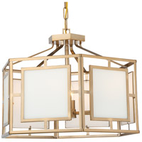 Crystorama HIL-995-VG Hillcrest 6 Light 22 inch Vibrant Gold Chandelier Ceiling Light