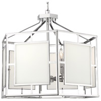 Crystorama HIL-996-PN Hillcrest 6 Light 28 inch Polished Nickel Chandelier Ceiling Light
