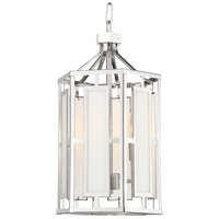 Crystorama HIL-997-PN Hillcrest 3 Light 12 inch Polished Nickel Chandelier Ceiling Light