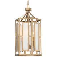 Crystorama HIL-997-VG Hillcrest 3 Light 12 inch Vibrant Gold Chandelier Ceiling Light