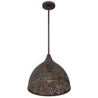 Crystorama JAS-A5010-FB Jasmine 1 Light 14 inch Forged Bronze Pendant Ceiling Light