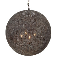 Crystorama JAS-A5014-FB Jasmine 4 Light 20 inch Forged Bronze Chandelier Ceiling Light