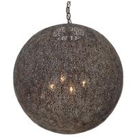 Crystorama JAS-A5014-FB Jasmine 4 Light 20 inch Forged Bronze Chandelier Ceiling Light