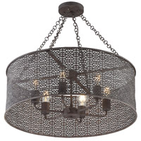 Crystorama JAS-A5016-FB Jasmine 6 Light 25 inch Forged Bronze Chandelier Ceiling Light