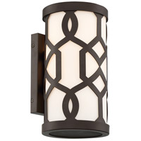 Crystorama JEN-2201-DB Jennings 1 Light 12 inch Dark Bronze Outdoor Wall Mount, Libby Langdon