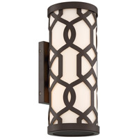 Crystorama JEN-2202-DB Jennings 2 Light 16 inch Dark Bronze Outdoor Wall Mount, Libby Langdon
