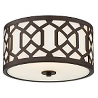 Jennings 3 Light 16 inch Dark Bronze Outdoor Ceiling Mount, Libby Langdon
