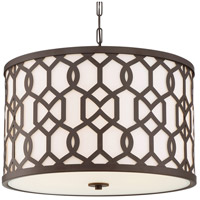 Jennings 5 Light 24 inch Dark Bronze Outdoor Chandelier, Libby Langdon