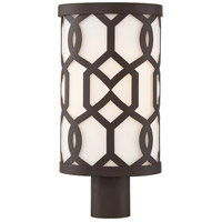 Crystorama JEN-2207-DB Jennings 1 Light 17 inch Dark Bronze Outdoor Lantern Post, Libby Langdon