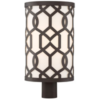 Crystorama JEN-2209-DB Jennings 1 Light 20 inch Dark Bronze Outdoor Lantern Post, Libby Langdon