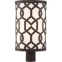 Crystorama JEN-2209-DB Jennings 1 Light 20 inch Dark Bronze Outdoor Lantern Post Libby Langdon