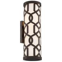 Jennings 2 Light 20 inch Dark Bronze Outdoor Wall Mount, Libby Langdon