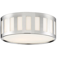 Crystorama KEN-2203-PN Kendal 3 Light 14 inch Polished Nickel Flush Mount Ceiling Light