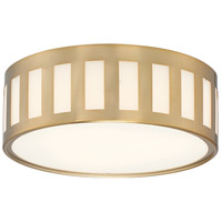 Crystorama KEN-2203-VG Kendal 3 Light 14 inch Vibrant Gold Flush Mount Ceiling Light