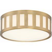 Crystorama KEN-2203-VG Kendal 3 Light 14 inch Vibrant Gold Flush Mount Ceiling Light