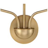 Crystorama LEI-203-AG Leigh 3 Light 16 inch Aged Brass Wall Sconce Wall Light in Aged Brass (AG) alternative photo thumbnail