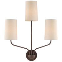 Crystorama LEI-203-DB Leigh 3 Light 16 inch Dark Bronze Wall Sconce Wall Light in Dark Bronze (DB)