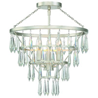 Crystorama LUC-A9063-SA Lucille 3 Light 16 inch Antique Silver Flush Mount Ceiling Light