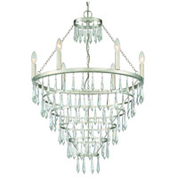 Crystorama LUC-A9066-SA Lucille 6 Light 24 inch Antique Silver Chandelier Ceiling Light
