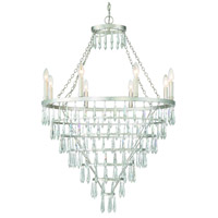 Crystorama LUC-A9068-SA Lucille 8 Light 28 inch Antique Silver Chandelier Ceiling Light