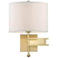 Crystorama MAR-A8031-AG Marshall 1 Light 13 inch Aged Brass Wall Sconce Wall Light