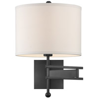 Crystorama MAR-A8031-MK Marshall 1 Light 13 inch Matte Black Wall Sconce Wall Light