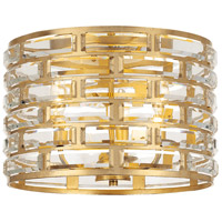 Crystorama MER-4863-GA Meridian 3 Light 15 inch Antique Gold Flush Mount Ceiling Light