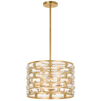 Meridian 5 Light 15 inch Antique Gold Chandelier Ceiling Light