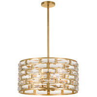 Meridian 6 Light 20 inch Antique Gold Chandelier Ceiling Light