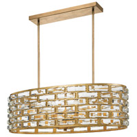 Crystorama MER-4869-GA Meridian 8 Light 32 inch Antique Gold Chandelier Ceiling Light
