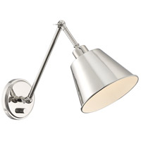 Crystorama MIT-A8020-PN Mitchell 1 Light 7 inch Polished Nickel Wall Sconce Wall Light