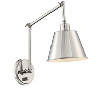 Crystorama MIT-A8021-PN Mitchell 1 Light 7 inch Polished Nickel Wall Sconce Wall Light