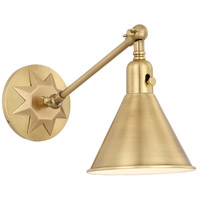 Morgan 1 Light 7 inch Aged Brass Wall Mount Wall Light in Aged Brass (AG)