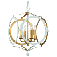 Antique White and Gold Chandeliers