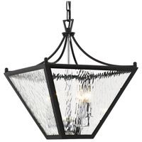 Crystorama PAR-694-MK-CH Park Hill 4 Light 16 inch Matte Black and Polished Chrome Lantern
