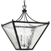 Crystorama PAR-696-MK-CH Park Hill 4 Light 21 inch Matte Black and Polished Chrome Lantern