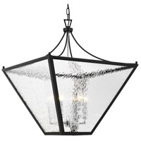 Crystorama PAR-698-MK-CH Park Hill 6 Light 27 inch Matte Black and Polished Chrome Lantern