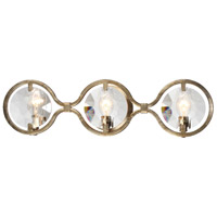 Quincy 3 Light 25 inch Distressed Twilight Vanity Light Wall Light