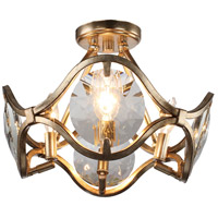 Quincy 4 Light 16 inch Distressed Twilight Flush Mount Ceiling Light