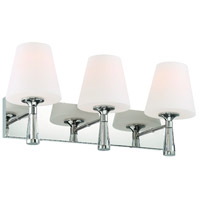 Crystorama RAM-A3403-PN Ramsey 3 Light 23 inch Polished Nickel Wall Sconce Wall Light