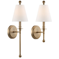 Crystorama RIV-382-AG Riverdale 1 Light 6 inch Aged Brass Wall Mount Wall Light in Aged Brass (AG)