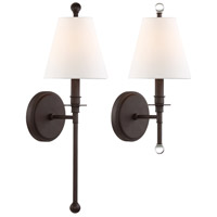 Crystorama RIV-382-DB Riverdale 1 Light 6 inch Dark Bronze Wall Mount Wall Light in Dark Bronze (DB)