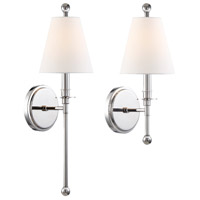 Crystorama RIV-382-PN Riverdale 1 Light 6 inch Polished Nickel Wall Mount Wall Light in Polished Nickel (PN)
