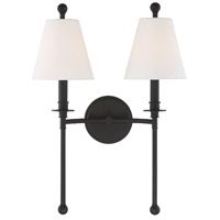 Crystorama RIV-383-BF Riverdale 2 Light 15 inch Black Forged Wall Sconce Wall Light