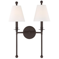 Crystorama RIV-383-DB Riverdale 2 Light 15 inch Dark Bronze Wall Sconce Wall Light