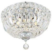 Crystorama ROS-A1003-CH-CL-MWP Rosyln 3 Light 10 inch Polished Chrome Flush Mount Ceiling Light