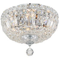 Crystorama ROS-A1004-CH-CL-MWP Rosyln 4 Light 12 inch Polished Chrome Flush Mount Ceiling Light